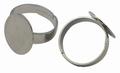 Metalen verstelbare basisring 17mm diameter nikkelkleur