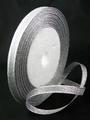 6 mm organza lint zilver sparkle