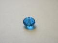 kristal facet kraal 6 x 8 mm deepskyblue glans 20L