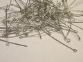 100 kettelstiften 5 cm nikkelkleur nikkelvrij