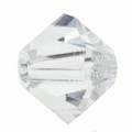4mm Bicone Czech Crystal #001