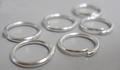 100 10mm ringetjes zilverkleurig 1 mm dik