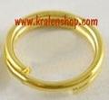 50 dubbelringen 6 mm goudkleurig
