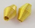 10 metalen diabolo veertjes kralen goud
