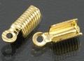 20 goudkleurige grote 5X13 mm leerklemmen