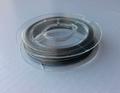 10 meter rol Tigertail draad 0,45 mm zilver aanbieding