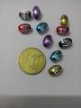 10 9x6,5mm mm gekleurde bewerkte aluminium kralen
