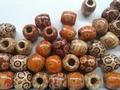 50 ronde  houten kralen 16 mm mix