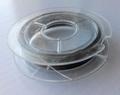 10 meter rol Tigertail draad 0,3 mm zilver