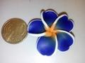 Fimoklei Bloem Donkerblauw 32mm  #1001