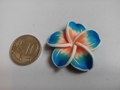 Fimoklei Bloem Lichtblauw 32mm  #1002