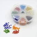 8 kleuren 4 mm rocailles MIX in bakje +/- 1600 stuks