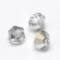 Imitatie austrian crystal 4,5x4 mm Half Silverplated