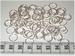 100 10mm ringetjes zilverkleurig 0,8 mm  dik
