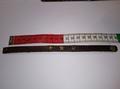 Armbandje donkerbruin Leer met 3 bronzen sterren