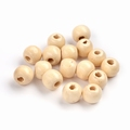 100 ronde houten kralen 10 mm Naturel