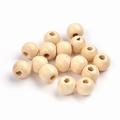 100 ronde houten kralen 10 mm Naturel