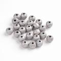 100 ronde houten kralen 8 mm zilvergrijs