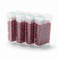 10 gram Japanese 8/0 seed beads Silver Lined Dark Red