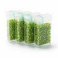 10 gram Japanese 8/0 seed beads Silver Lined GreenYellow