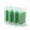 10 gram Japanese 8/0 seed beads Silver Lined Limegreen