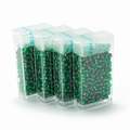 10 gram Japanese 8/0 seed beads Silver Lined Green
