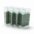 10 gram Japanese 8/0 seed beads Silver Lined Olive