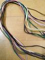 10 gekleurde plate imitatie suede veters van 1 meter mix