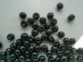 100 ronde houten kralen 7 mm zwart