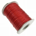 Waxed cotton 1mm Rood