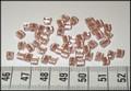 50 4x4 blokjesl Metallic perzik lijn (A11)