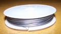 Rol extra dik Tigertail draad 0,6 mm zilver 40 meter