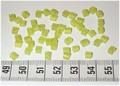 50 4x4 blokjes mat Limoengroen (A25)