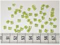 50 4x4 blokjes LimoenGroene lijn (A41)
