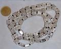 Streng 80 8x6x6 crackle kralen transparant