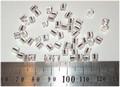 50 4x4 blokjes Zilveren lijn (A43)