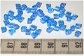 50 4x4 blokjes Blauw violet lijn (A44)