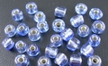 50 gram 4mm rocailles blauw silver lined #26
