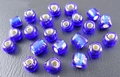 50 gram 4mm rocailles donkerblauw silver lined #28